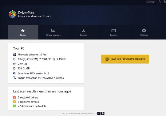 DriverMax Pro v12.11.0.6 Crack with Registration Code Latest