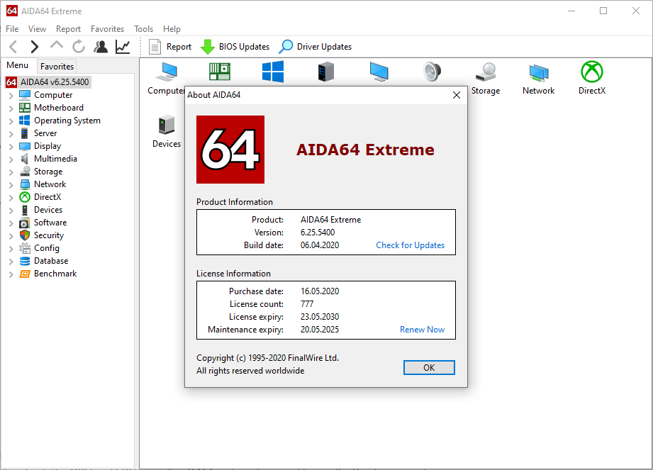 AIDA64 Extreme Edition 6.25.5423 Crack + Key Full Version Free