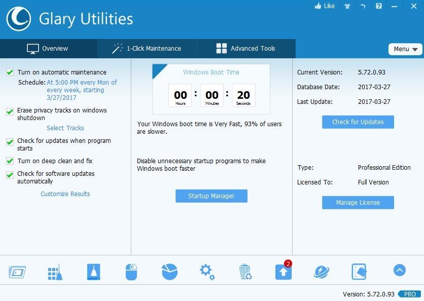Glary Utilities Pro 5.165.0.191 Crack + Serial Keygen Latest (Lifetime)